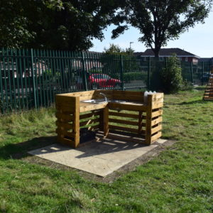 Photo of a mud kitchen area